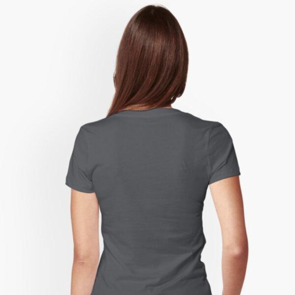 Lava Prints Hala Wala T-shirt for Women Black V-Neck