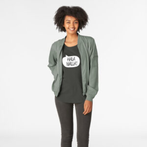 Lava Prints Hala Wala T-shirt for Women Black Round Neck
