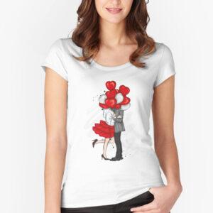 valentine t-shirts for women