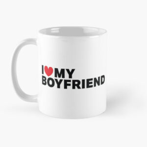 Coffee mug printed with valentine texts