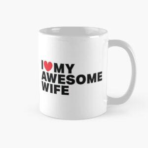 Plain white mugs printed with valentine texts