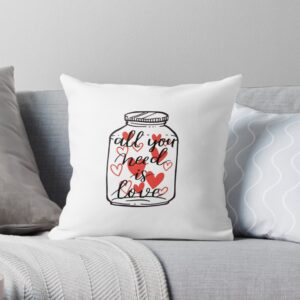 All you need is love pillow white