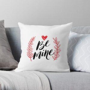 Be mine white throw pillow