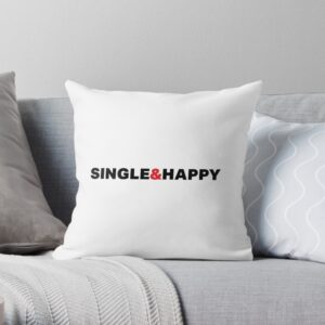 White throw pillow for couch, bed, sofa
